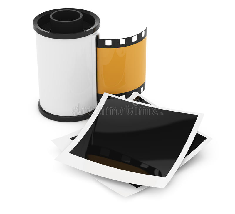 Photographic film and photographs stock illustration