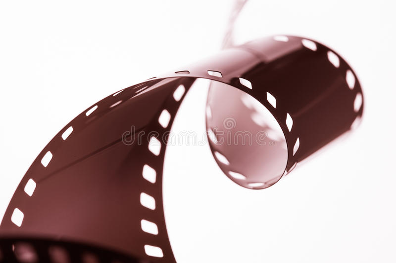 Photographic film strip. On white background stock photography