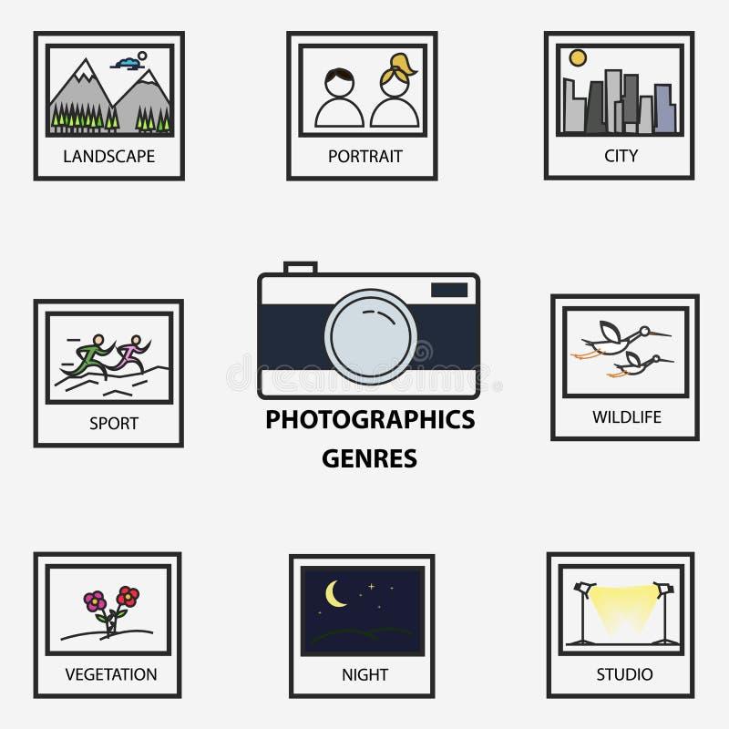 Photographic Genres stock illustration. Illustration of night - 50096335