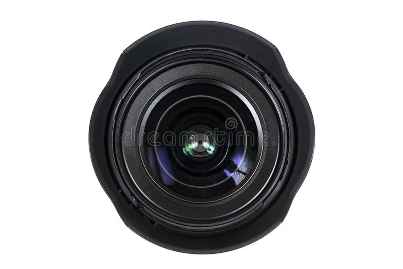 Photographic lens. The front lens of a photographic lens royalty free stock photography