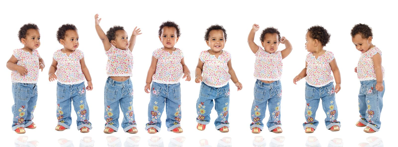 Download Photographic Sequence Of A Hyperactive Baby Stock Image - Image: 6114691