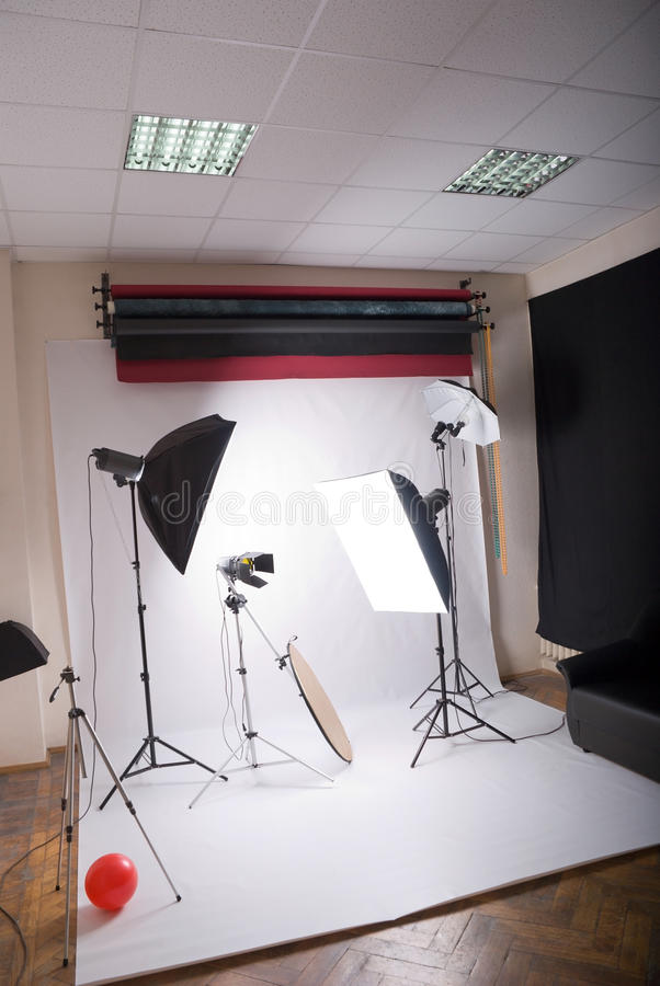 Photographic studio. General view of the photographic studio royalty free stock photos