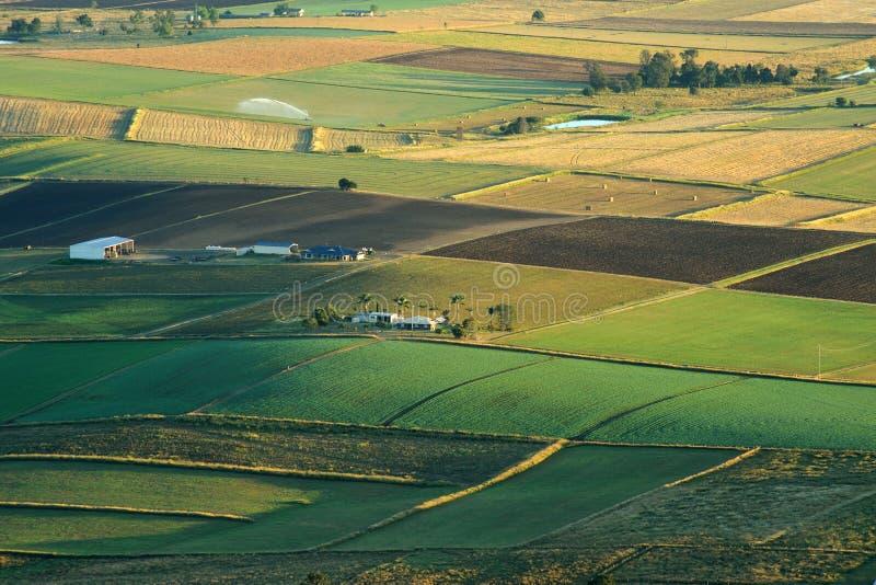 Photographie aérienne d'agriculture et de l'agriculture du Queensland, Australie images stock