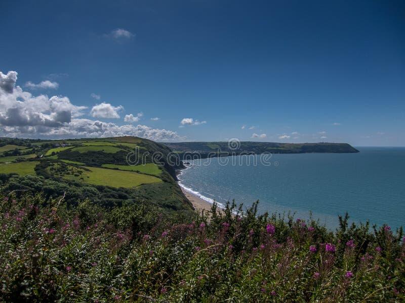 Photographie aérienne de cerf-volant du sud du pays de Galles image libre de droits
