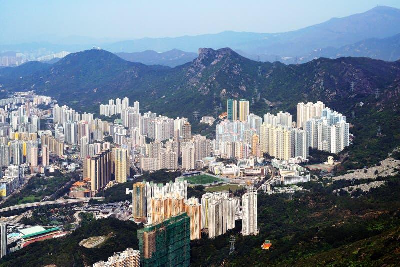 Photographie aérienne de Hong Kong   images stock