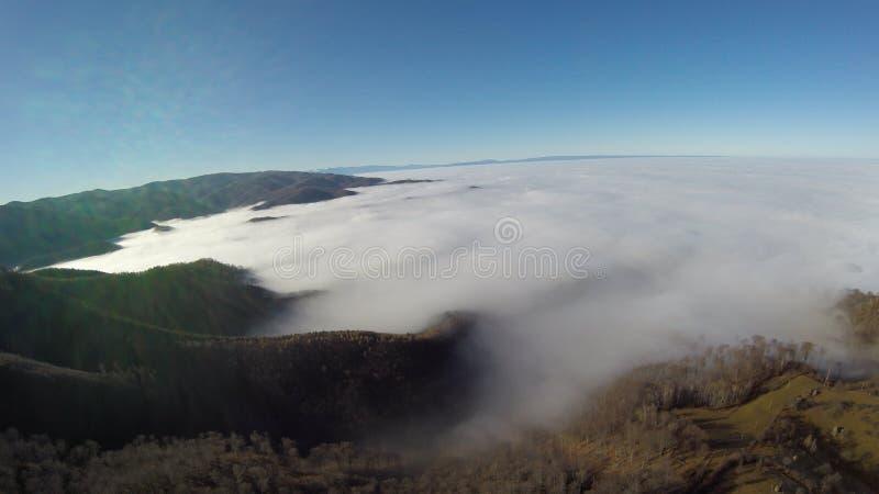 Photographie aérienne de Roumain Montains photos stock