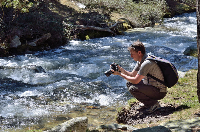 Photographie au printemps des montagnes images libres de droits