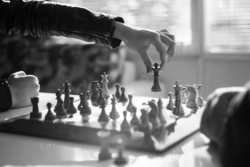 Photographie courante professionnelle de jeu d'échecs images stock