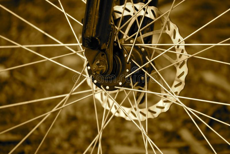 Photographie d'actions d'objet d'isolement par sporks de bicyclette photos libres de droits