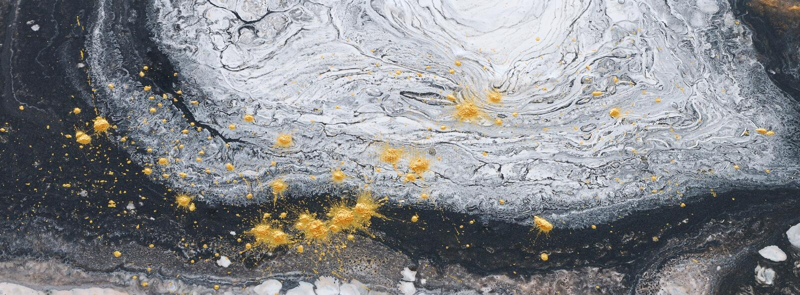 Photographie de fond marbleized abstrait d'effet noir, or et couleurs créatives blanches Belle peinture photos libres de droits