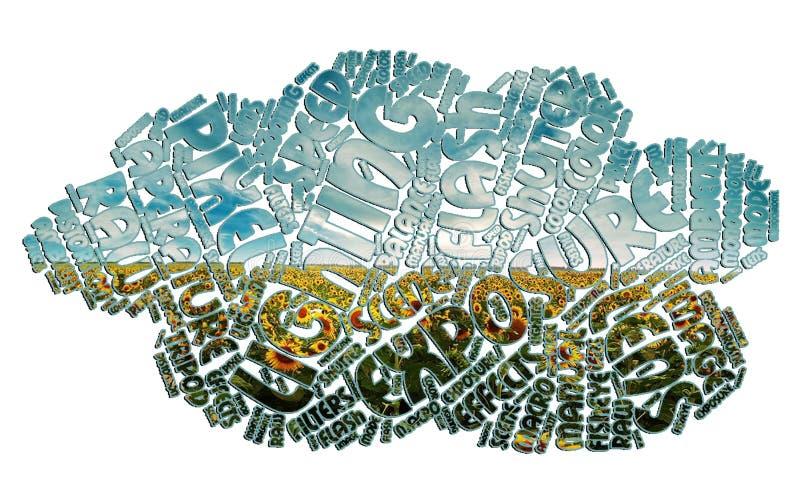 Photographie de nuage de Word illustration libre de droits