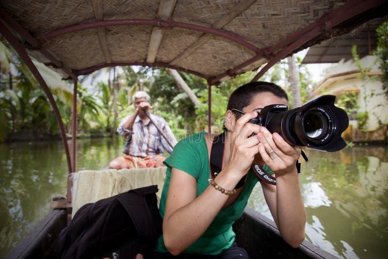 Photographie de touristes photo libre de droits