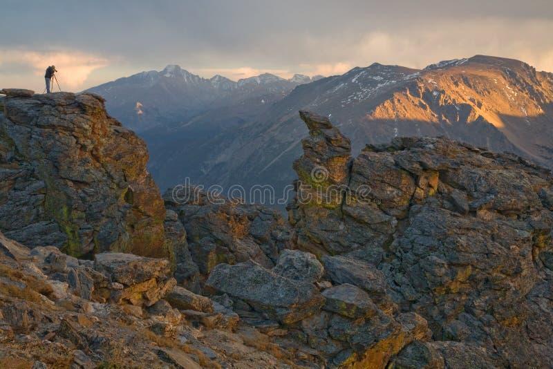Photographie des montagnes rocheuses photo stock