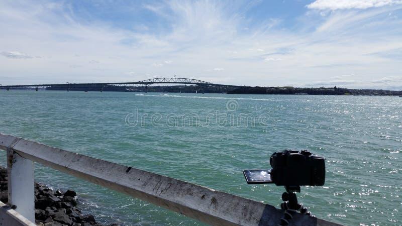Photographie du pont de port d'Auckland photographie stock