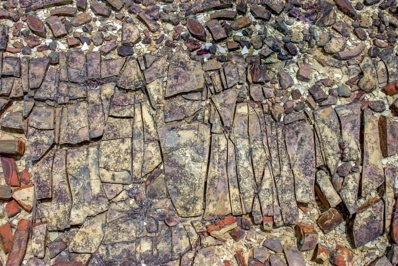 Photographie en gros plan de la texture I de roche sédimentaire images stock