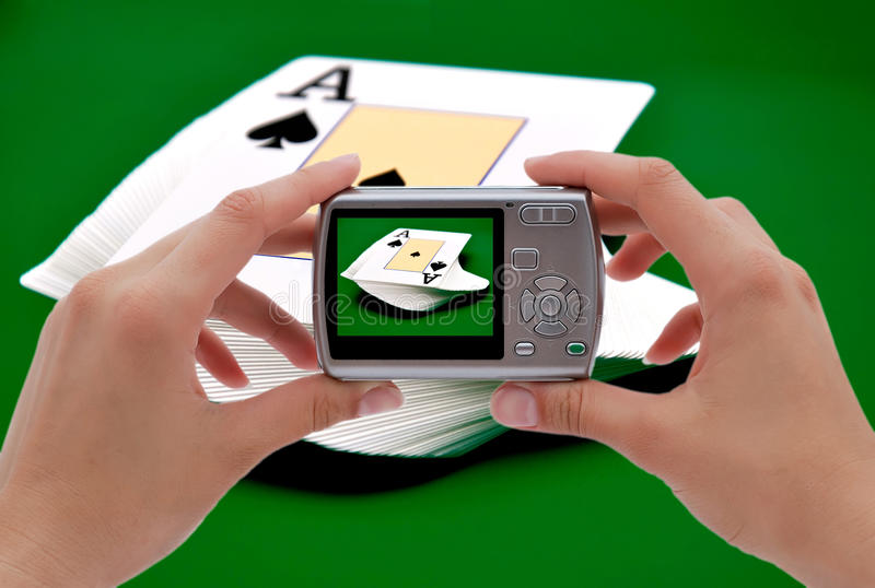 Download Photographing  Ace Of Spades Stock Photo - Image: 26404506
