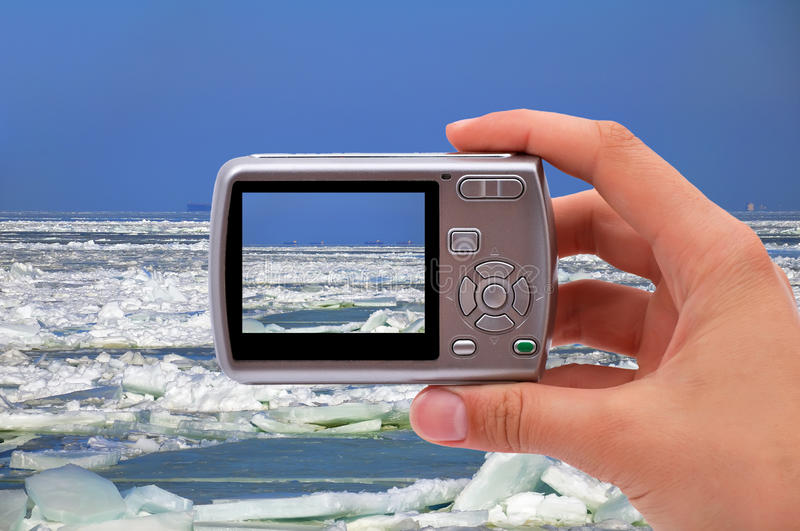 Download Photographing ice sea stock image. Image of landscape - 28443843