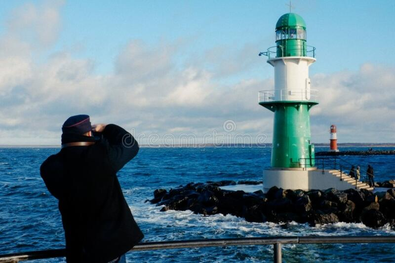 Photographing the lighthouse royalty free stock image