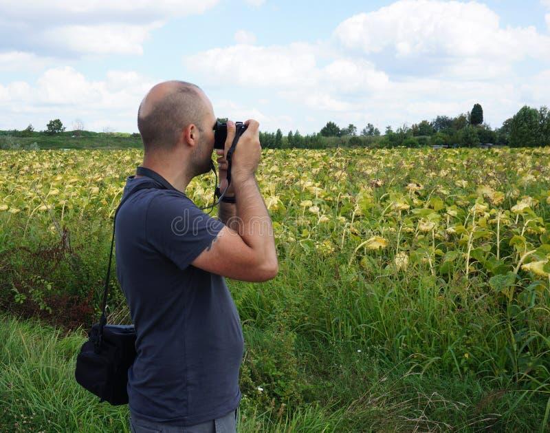 Photographing Man Stock Photo