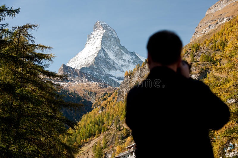 Photographing Matterhorn royalty free stock photography