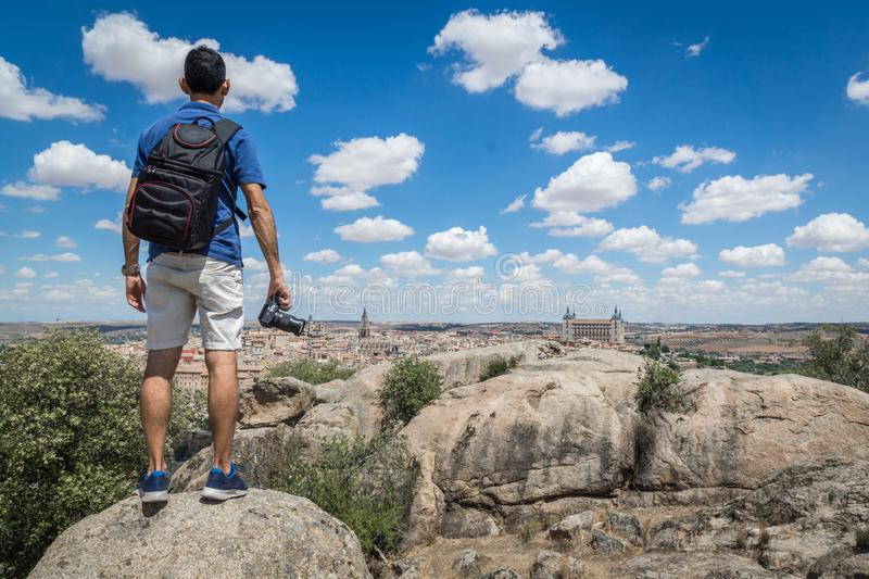 Photographing Toledo landscape royalty free stock photography