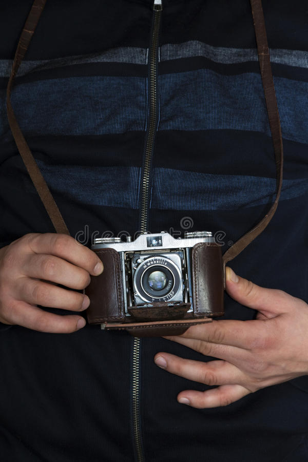 Download Photographing With A Vintage Camera Royalty Free Stock Image - Image: 12931196