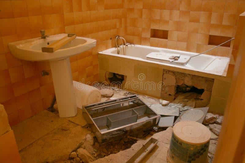 DISASTER BATHROOM royalty free stock photo