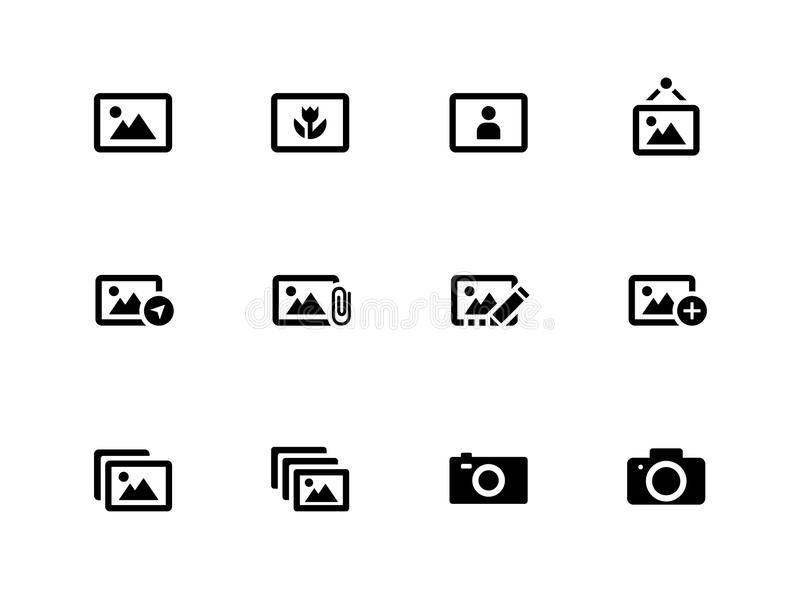 Download Photographs And Camera Icons On White Background. Stock Vector - Image: 33445855