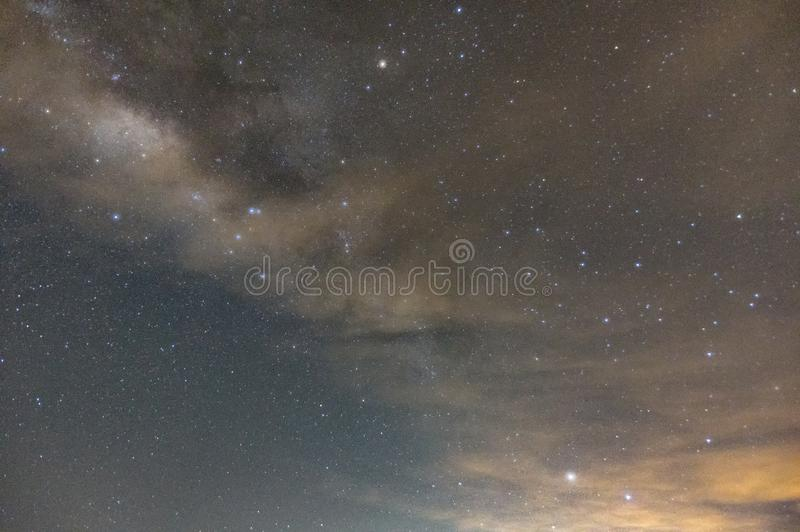 Galaxys and milky way royalty free stock photography