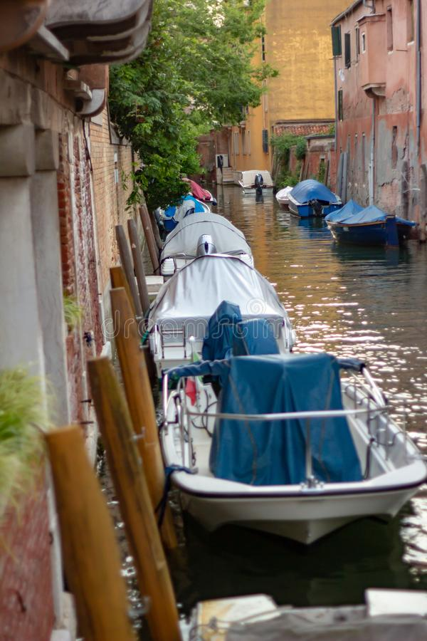 Photographs that portray Venice differently, chaotic and crowded, full of tourists and people going around, kids who live the city. Every day or who are stock image