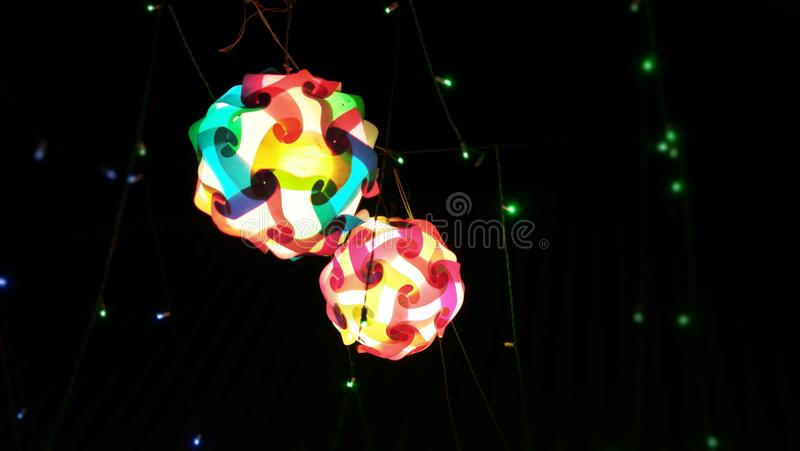 Photography of lighting in a festival for background usage. Photography of abstract lighting in a festival for background usage stock images
