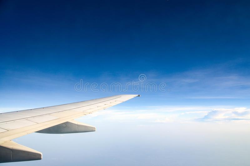 Photography of Aircraft Wing stock photography