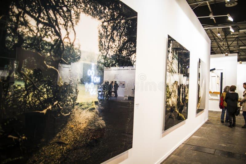 Photography.Begin 2014 ARCO, el arte contemporáneo internacional fotografía de archivo libre de regalías