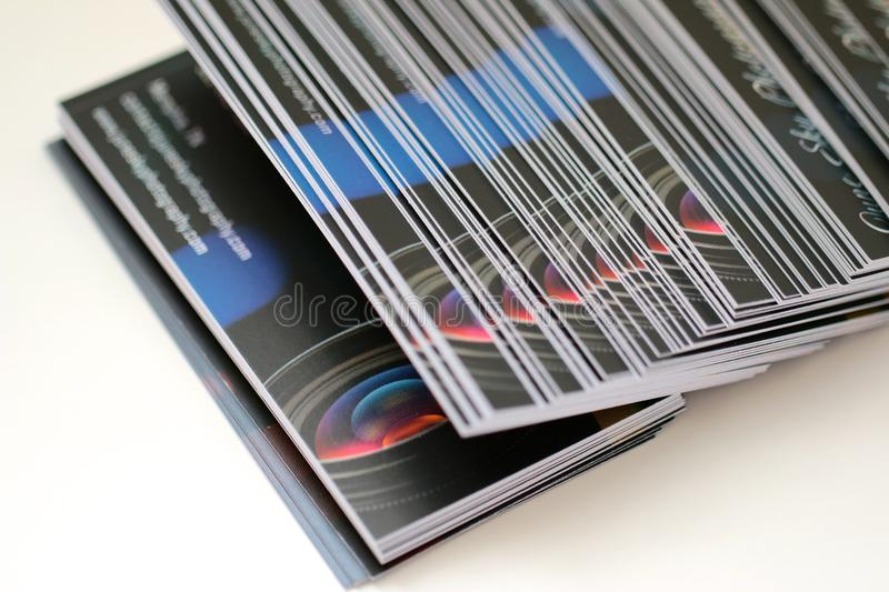 Photography Business Cards stock image