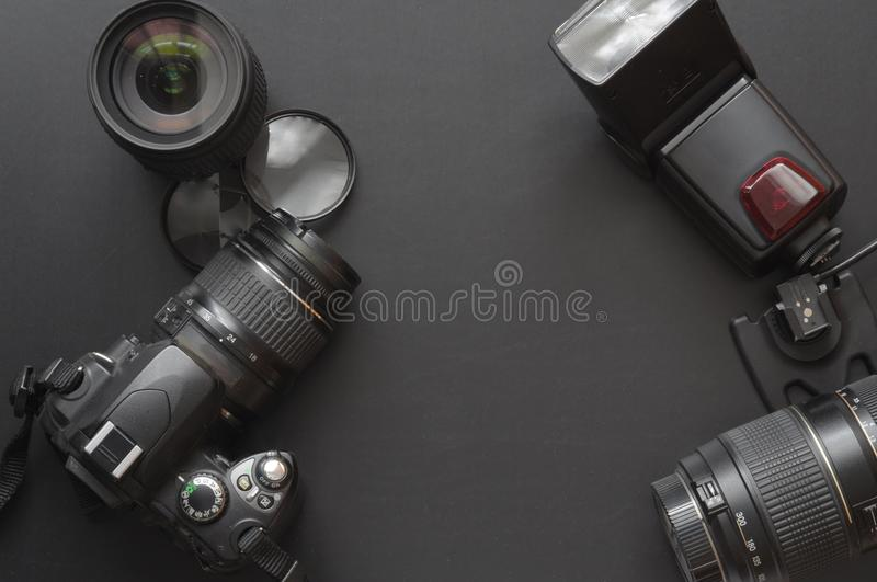 Photography with camera stock photos