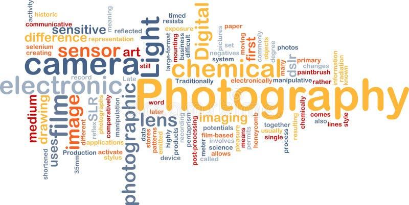 Photography camera background concept stock illustration
