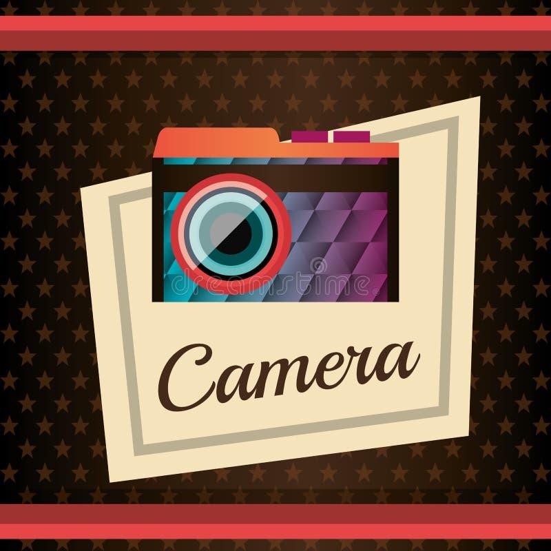 Photography and camera vintage design. Vector illustration royalty free illustration