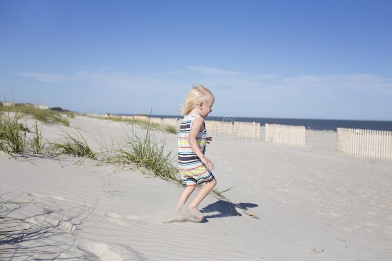 Photography of a Child on Beach royalty free stock images