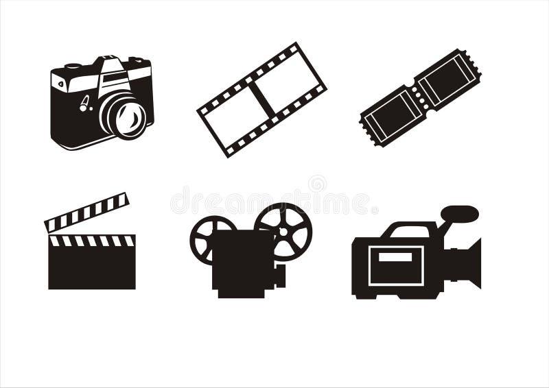Photography and cinema symbols stock photo