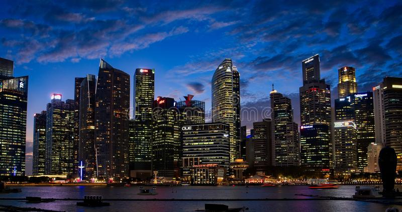 Photography of City During Dusk royalty free stock photography
