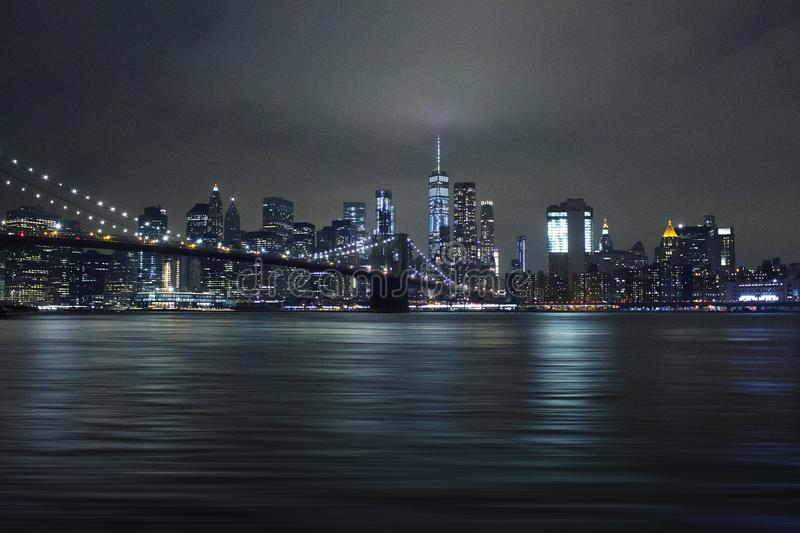 Photography of City Lights During Night Time royalty free stock images