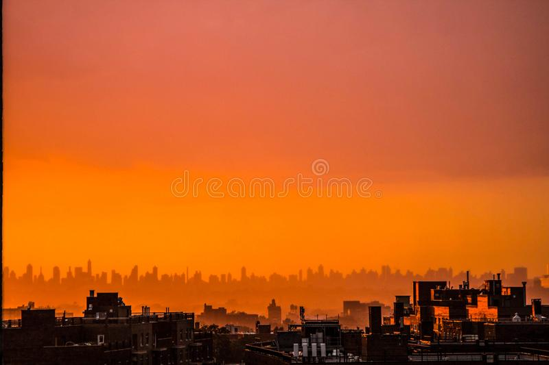 Photography of City During Sunset stock photo