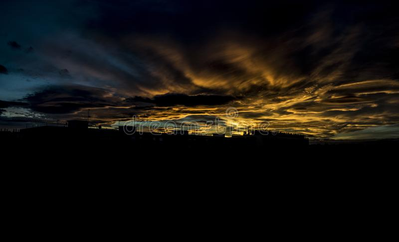 Photography of Clouds during Golden Hour royalty free stock image