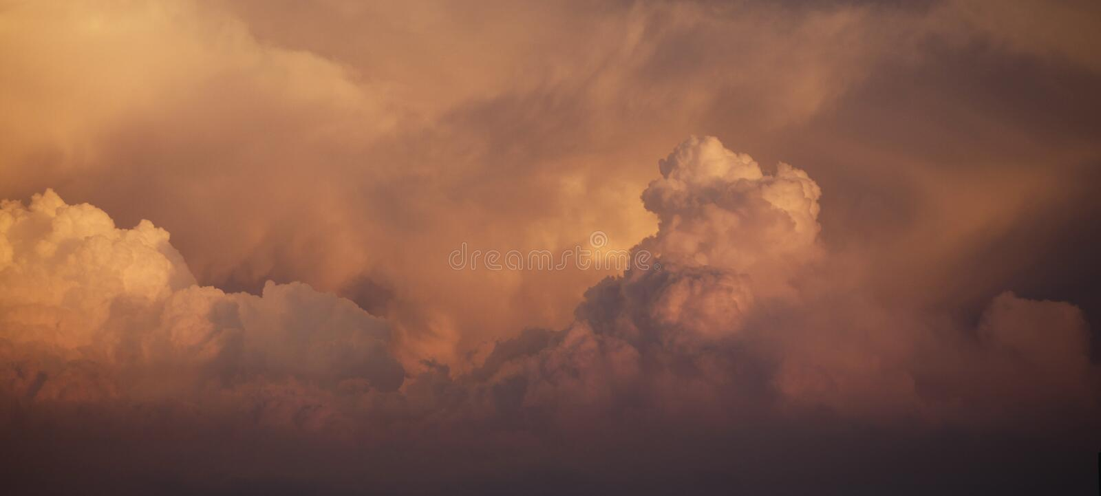 Photography of Cloudscape During Dusk royalty free stock photo