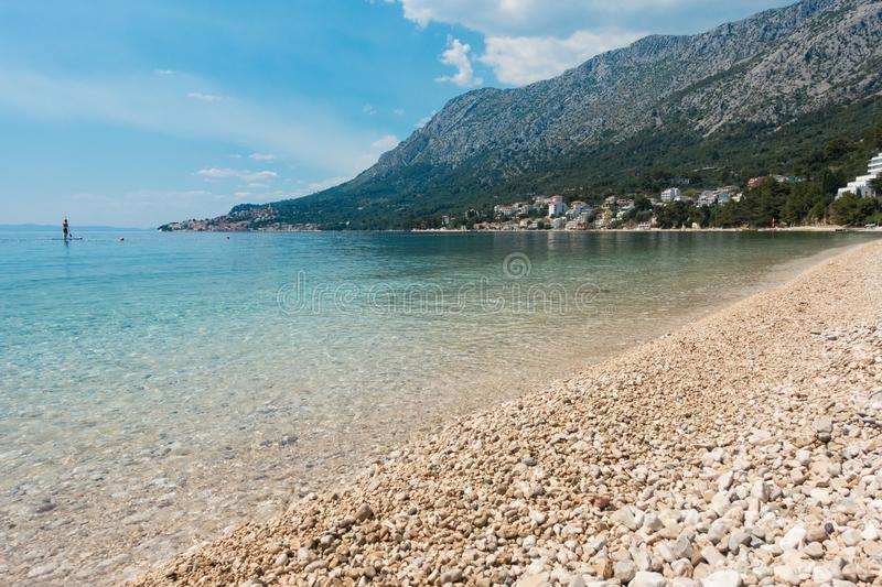 Coast in croatia royalty free stock images