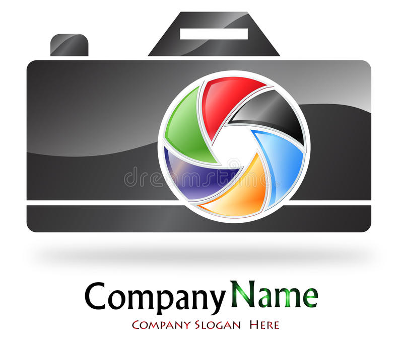 Photography company logo royalty free illustration