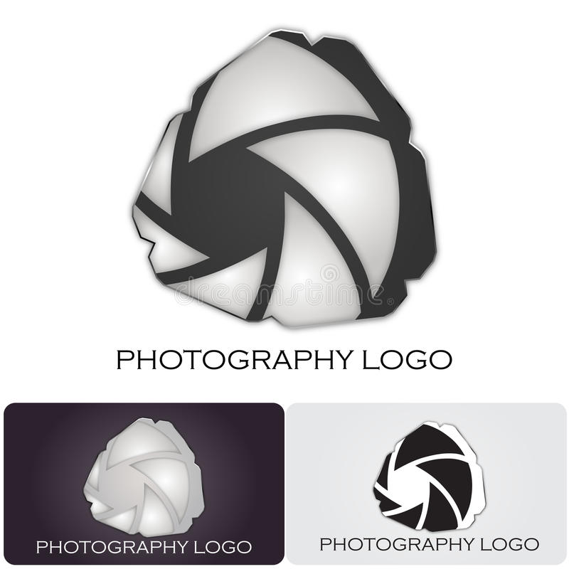 Photography company logo stock illustration