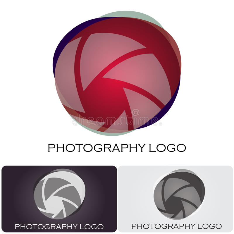 Photography company logo vector illustration