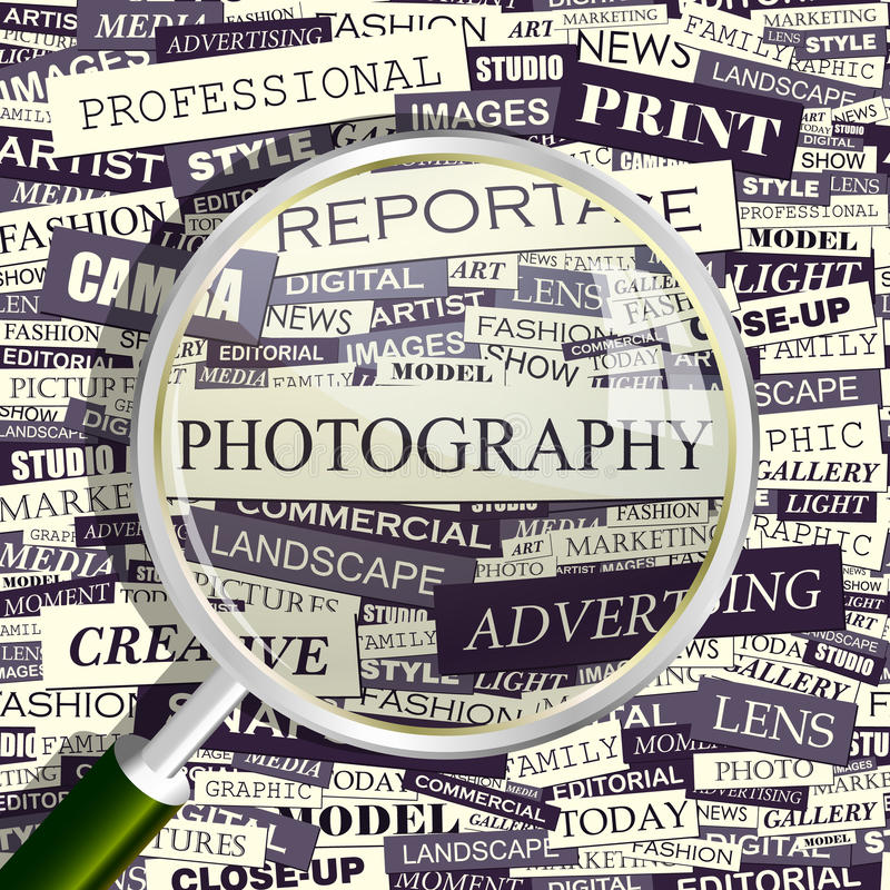 Download PHOTOGRAPHY stock vector. Image of cover, life, keywords - 34640651