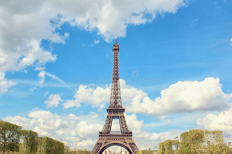 Photography of the Eiffel Tower royalty free stock image